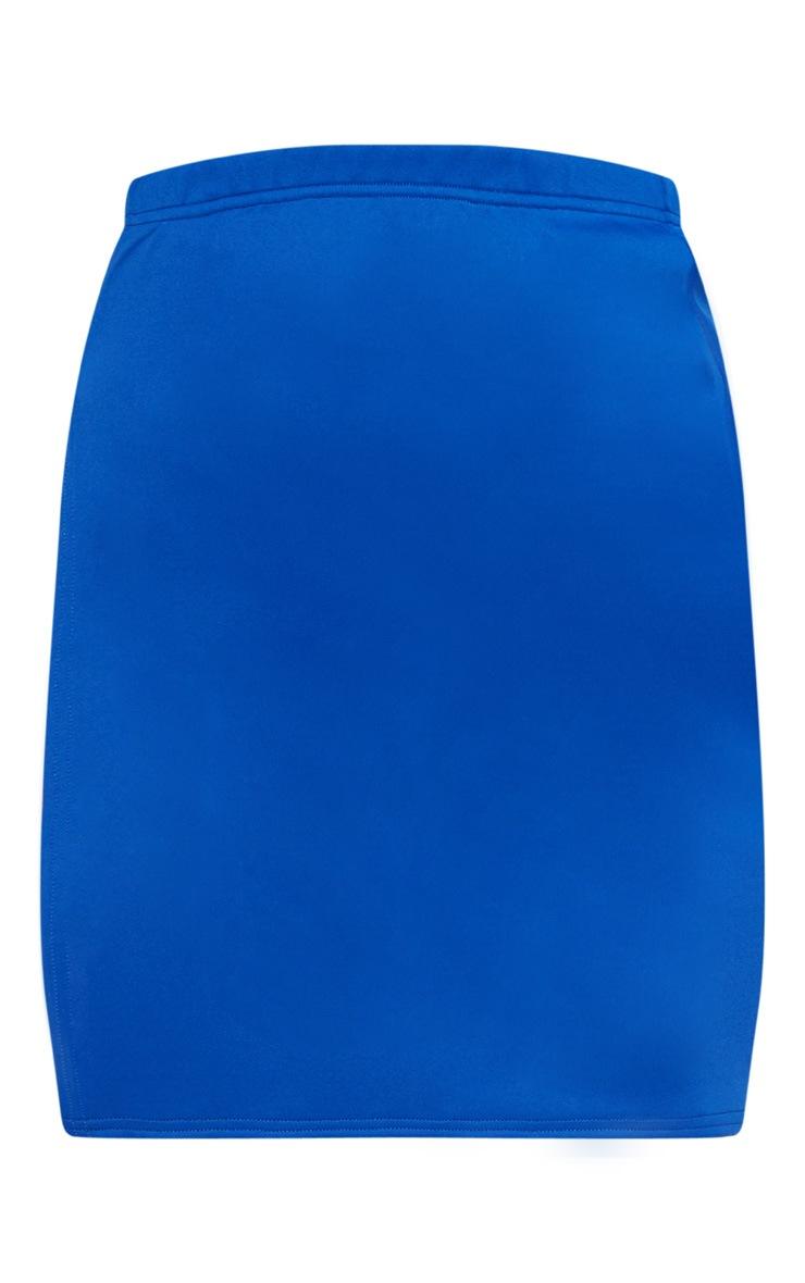 Cobalt Scuba Extreme Side Split Mini Skirt 3