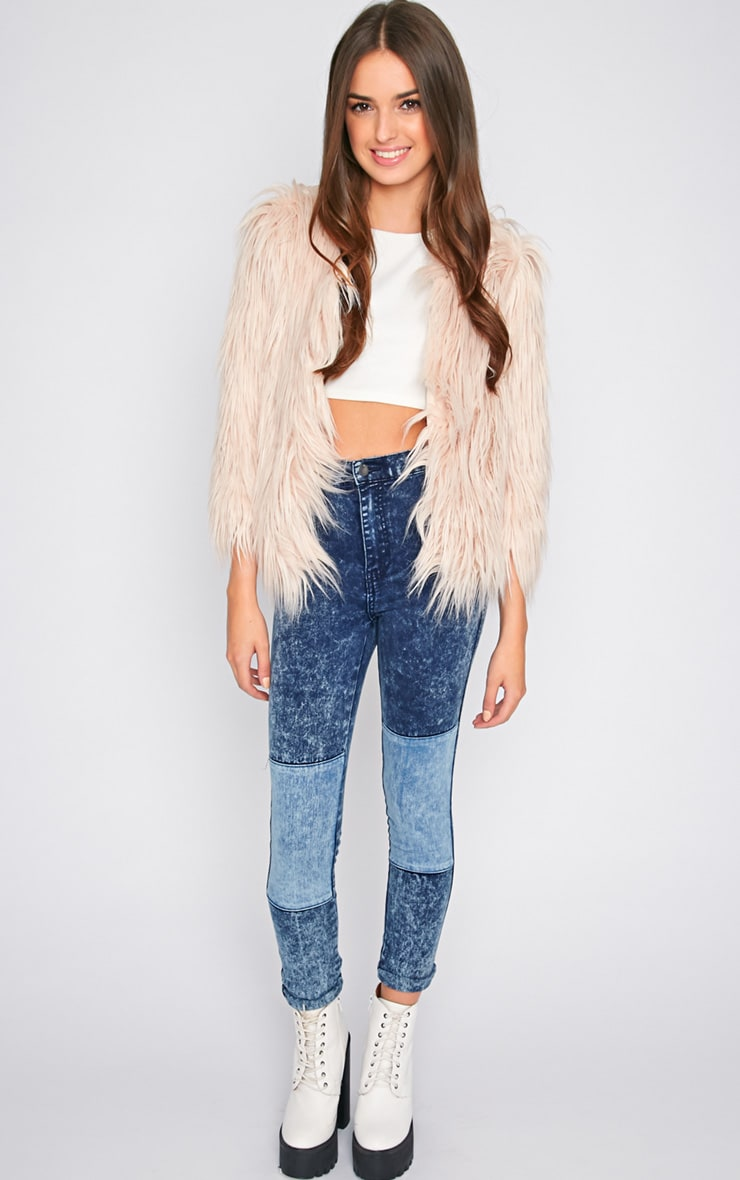 Lily Nude Faux Fur Jacket 3