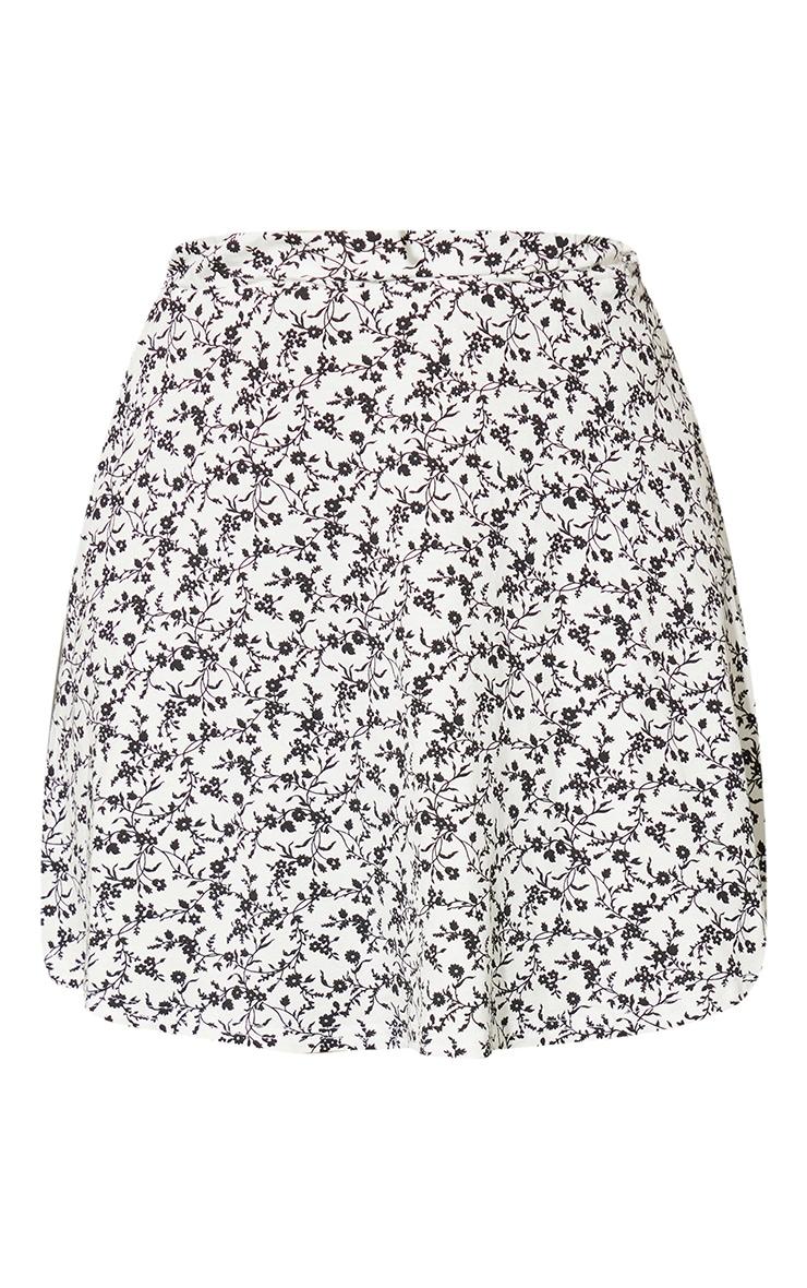 White Ditsy Floral Skater Skirt 6
