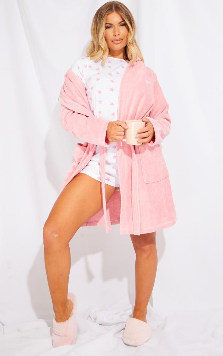 Baby Pink Star Print Short Cotton Pj Set 3