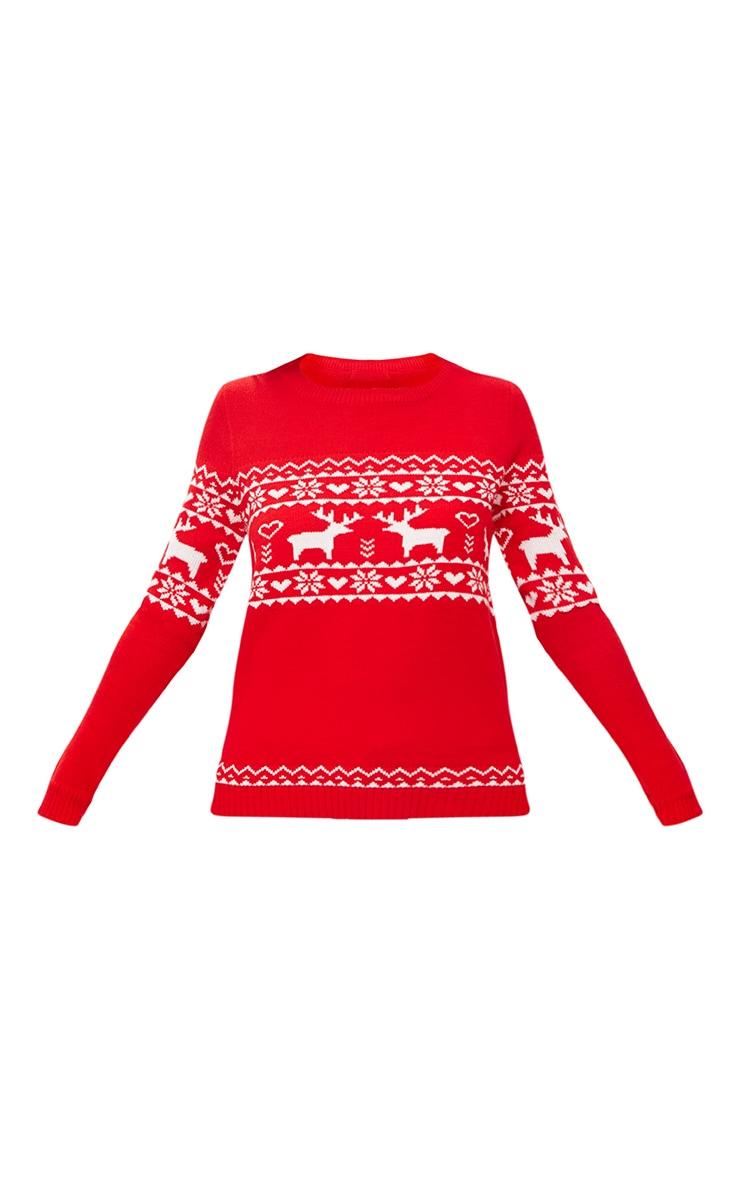 Red Fairisle Reindeer Christmas Jumper 3