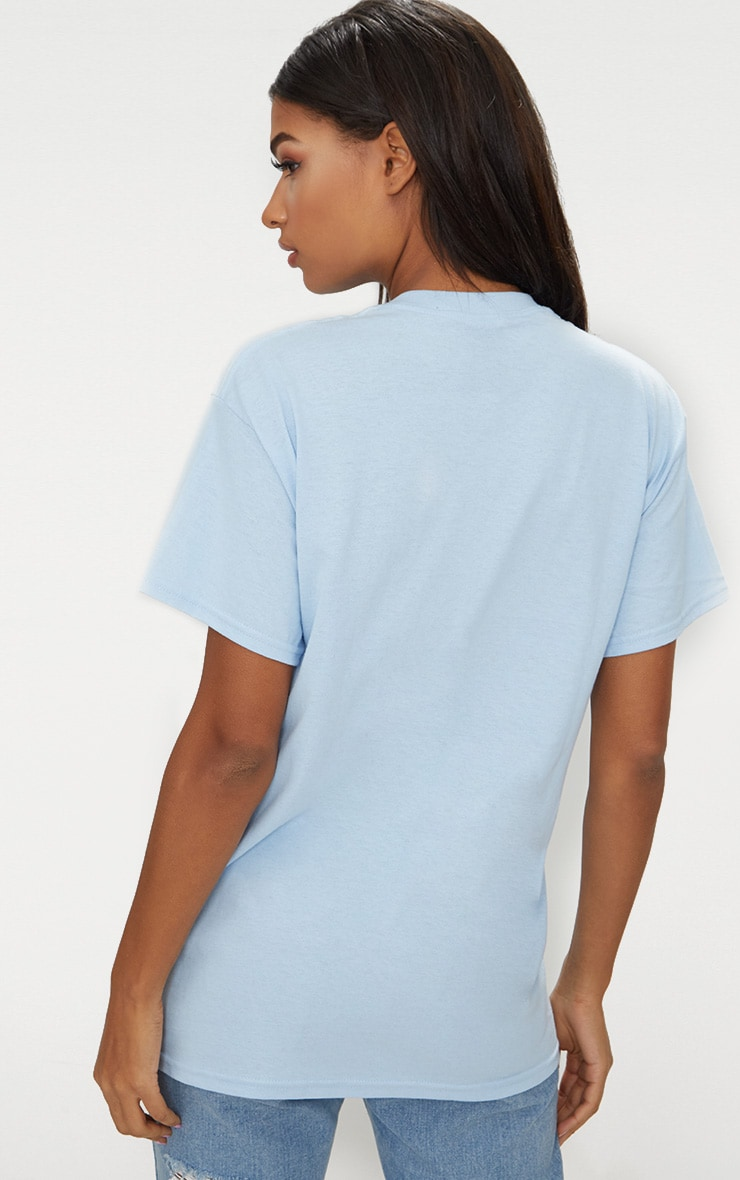 Baby Blue Iconic Slogan T Shirt 3