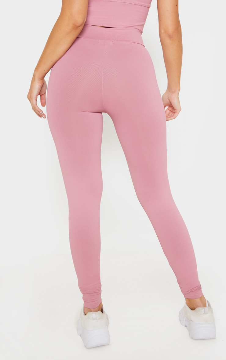 Dusty Pink Luxe High Waist Gym Legging 4
