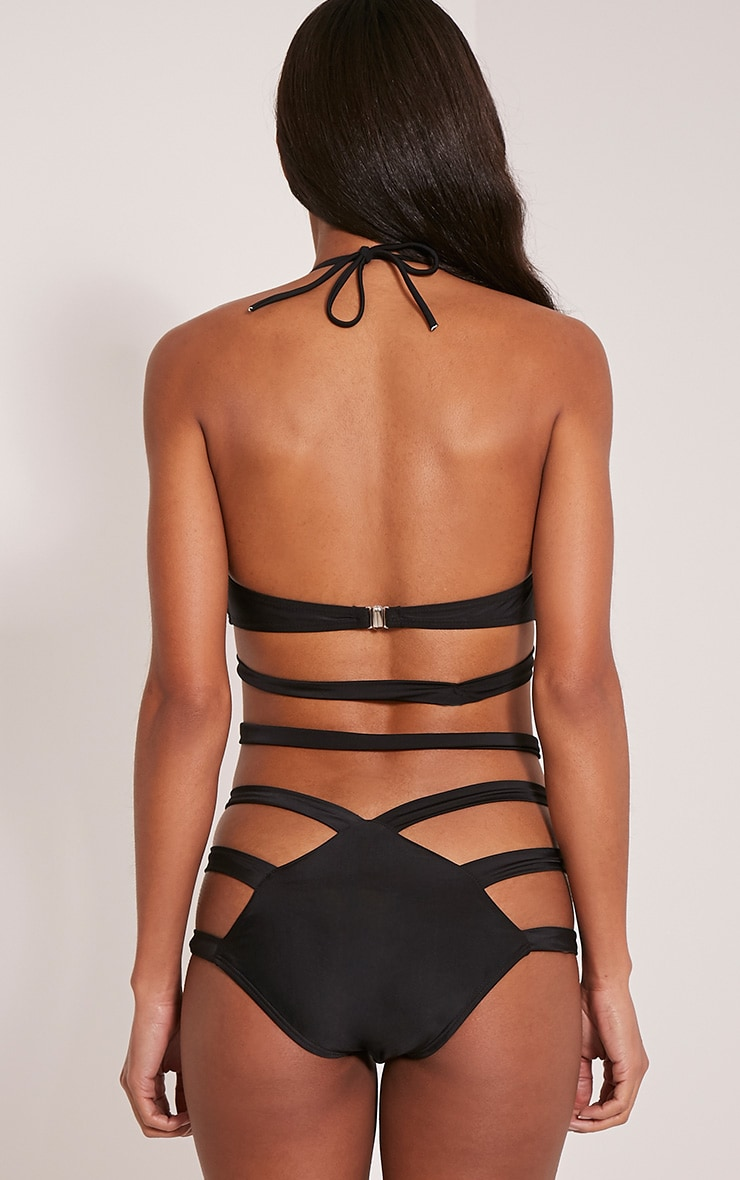Adriana Black Cut Out Swimsuit 2