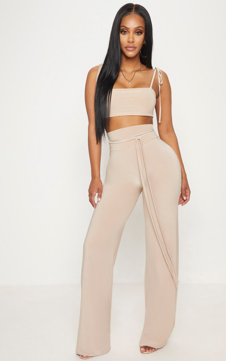 Shape Stone Slinky Straight Neck Crop Top 4