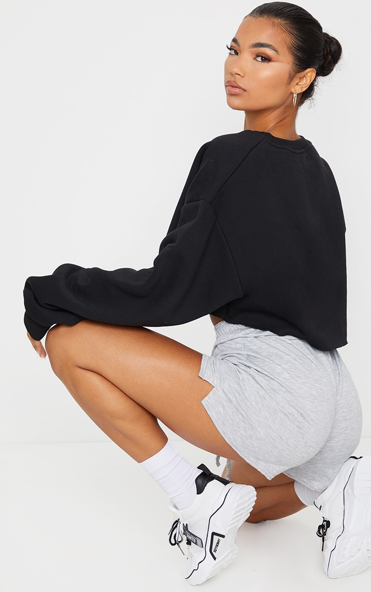 Black Ultimate Cropped Sweatshirt 2