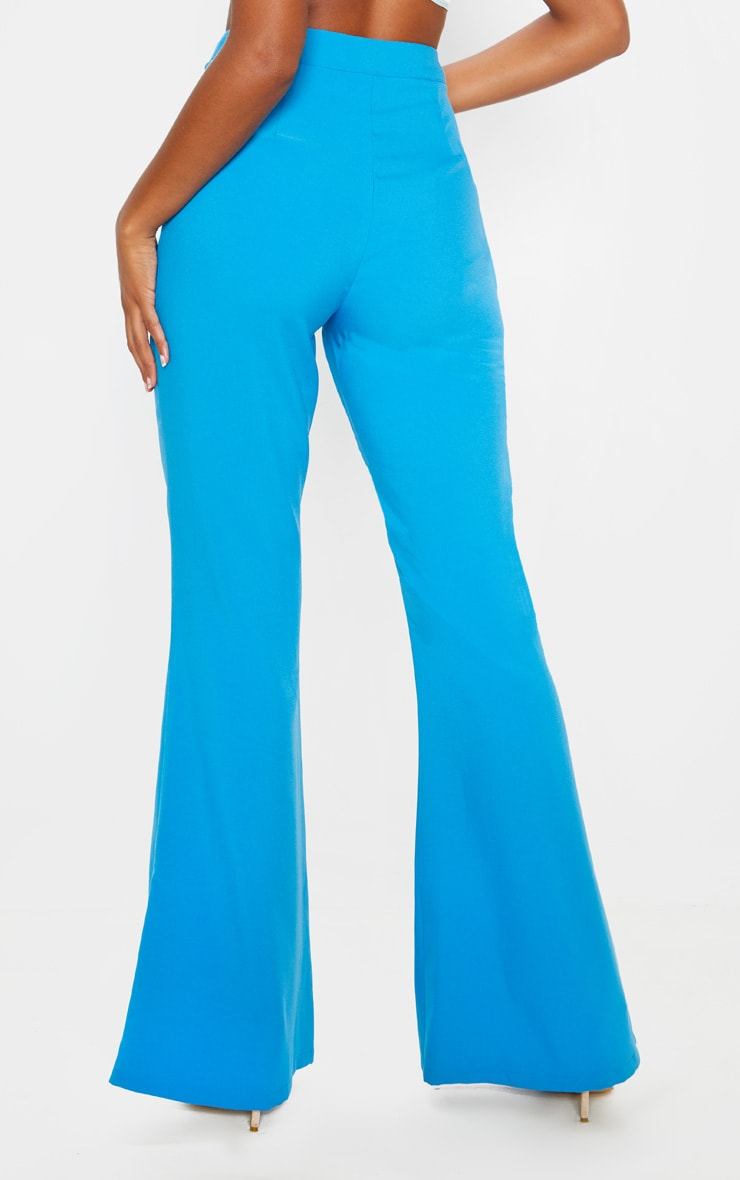 Blue Wide Legged Suit Trouser  4