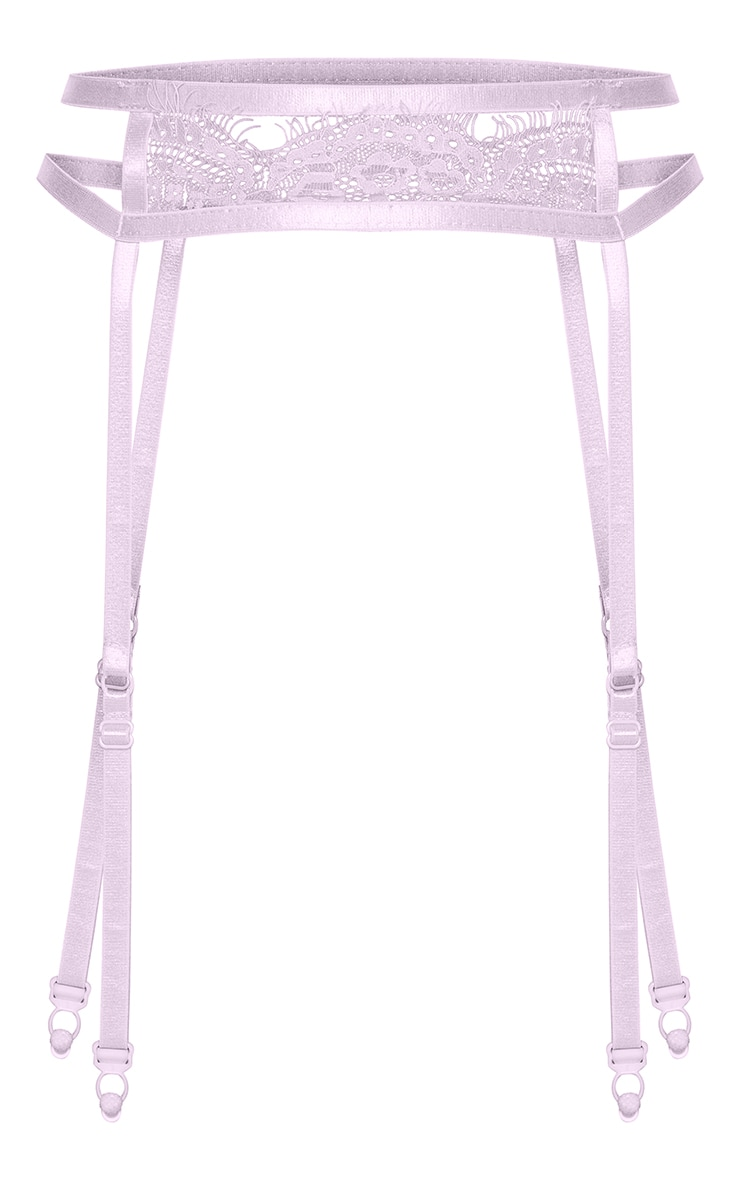 Lilac Lace Strappy Suspender Belt 5