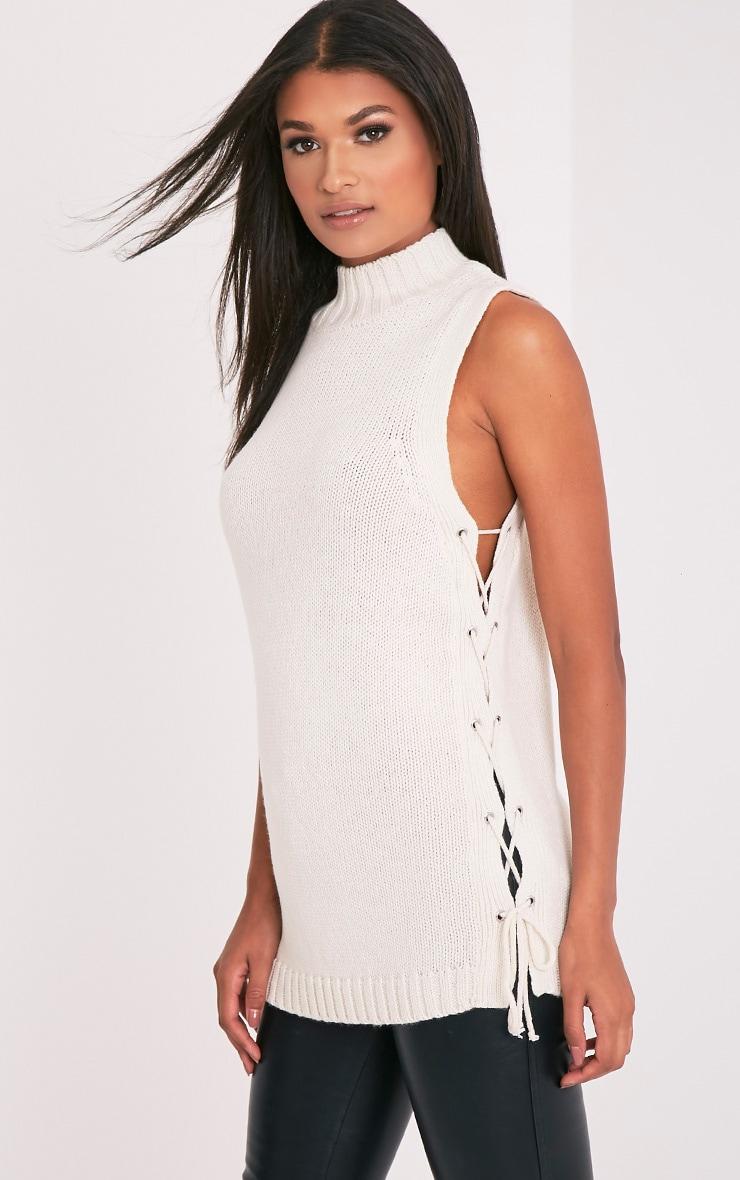 Jennalyn Cream Side Tie Vest 1