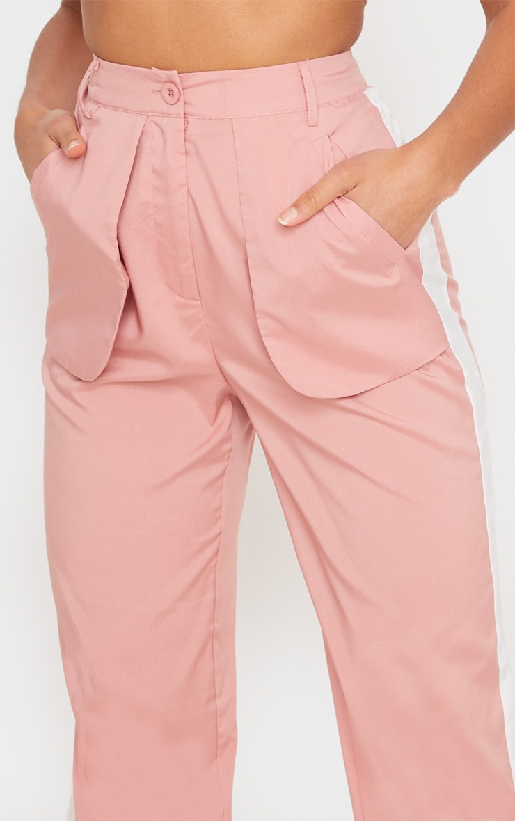 Dusty Pink Inside Out Pocket Trousers 5