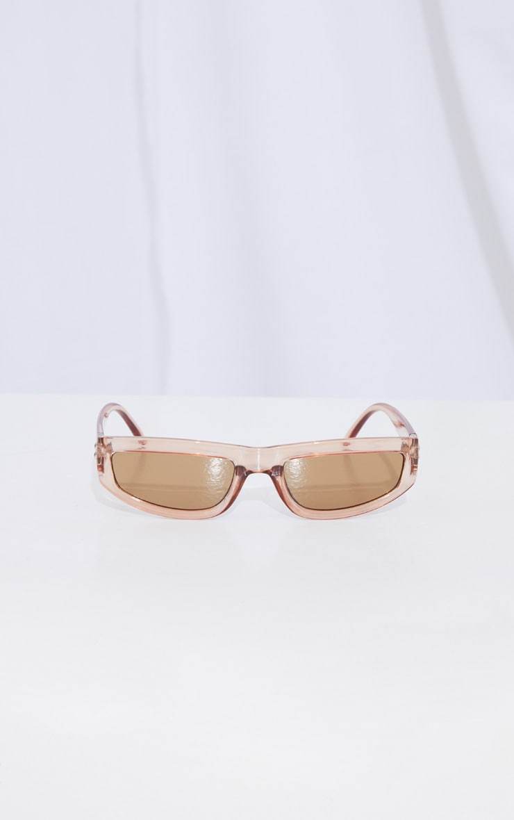 Brown Square Slimline Sunglasses 2