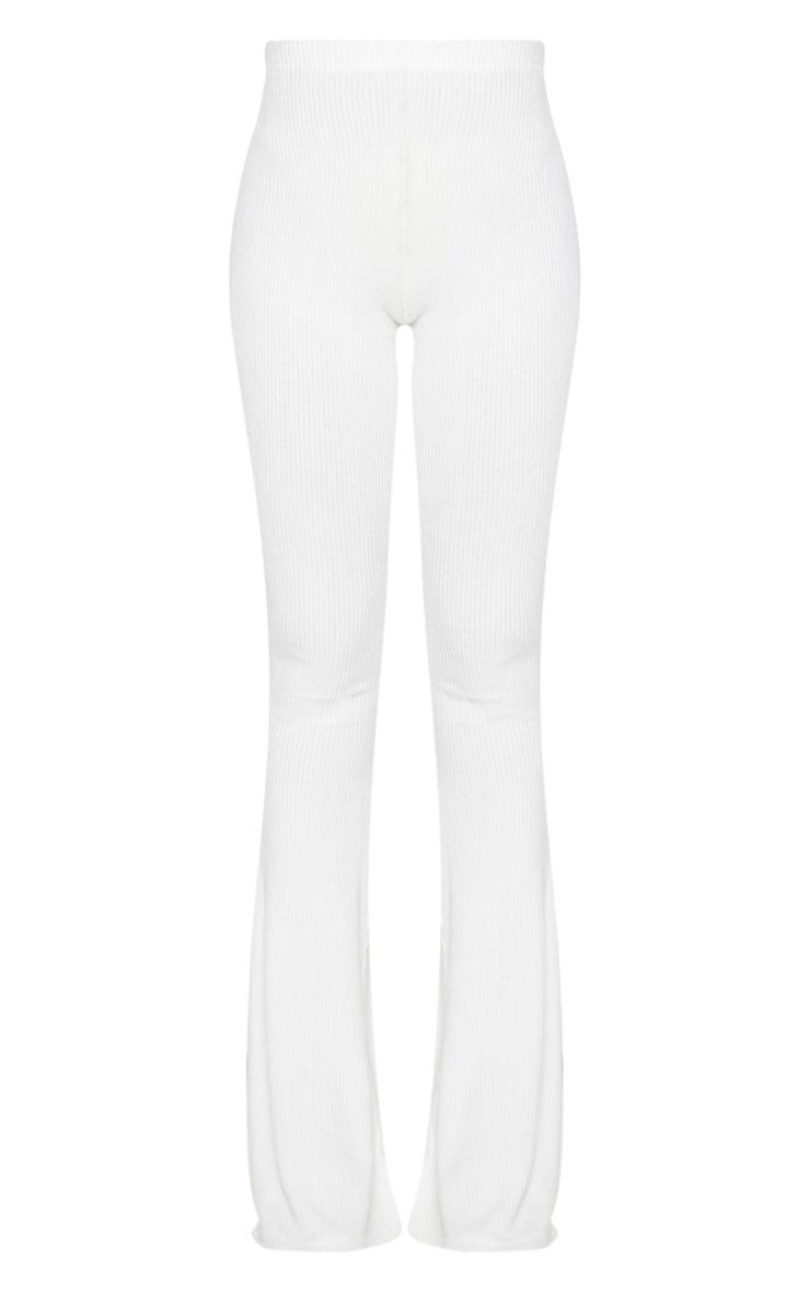 Shape - Pantalon fendu crème en maille côtelée brossée 5