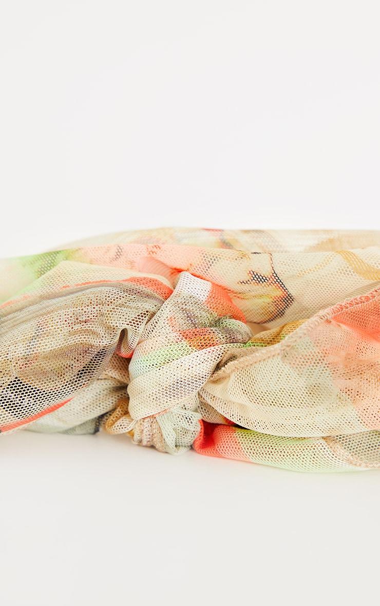 Bandana en mesh imprimé statue multicolore 3