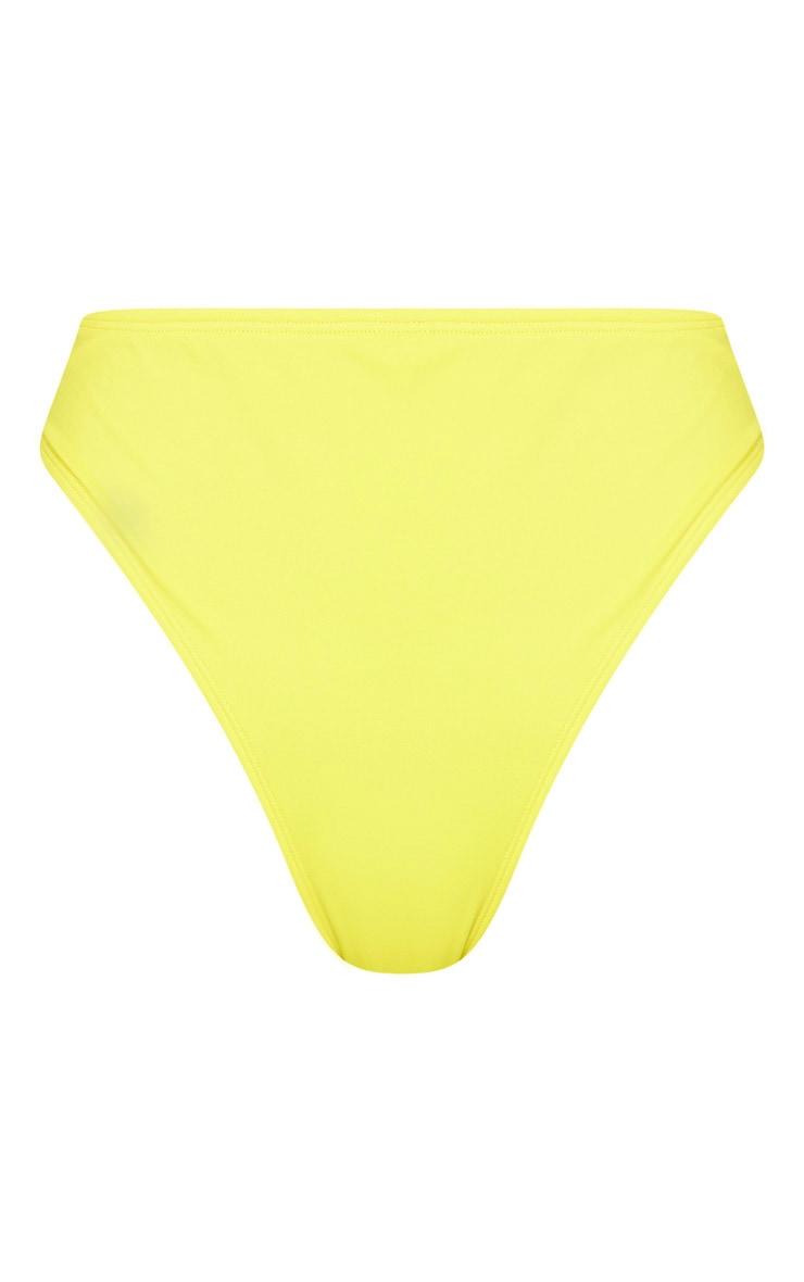 Yellow High Waisted Cheeky Bum BikiniBottom 7