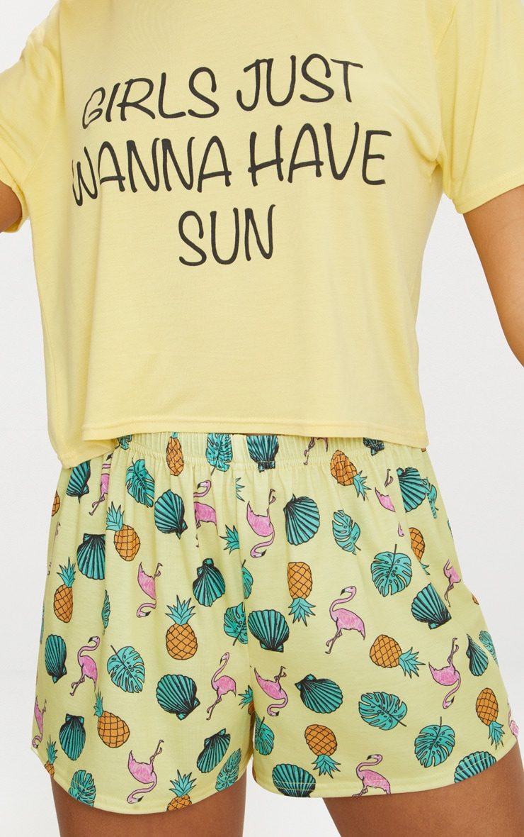 Lemon Girls Just Wanna Have Sun Short PJ Set 5