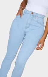 Shape Light Wash High Waist Super Stretch Skinny Jeans 4
