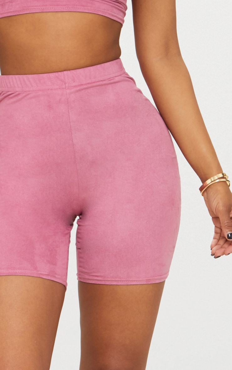 Shape Rose Faux Suede Cycling Shorts 6