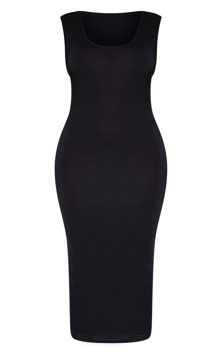 Plus Black Jersey Scoop Neck Midaxi Dress  3