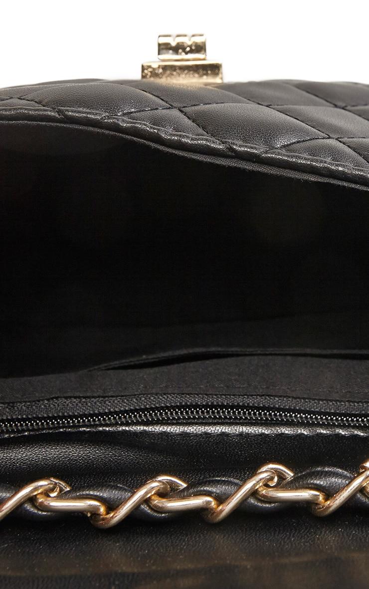 Corena Black Quilted Bag 6