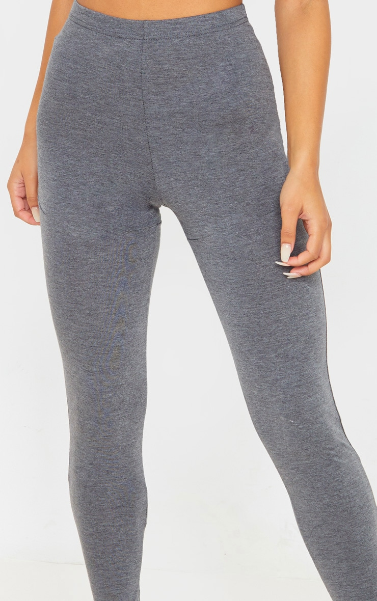 Charcoal Grey Jersey Seam Detail Legging 5
