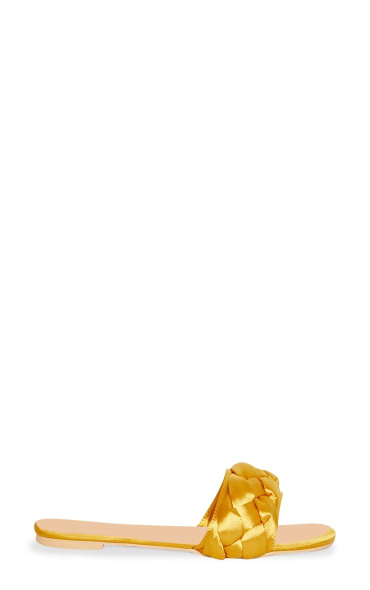 Mules à tresse moutarde 3