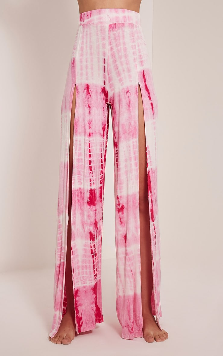 Saydie Pink Tie Dye Split Trousers 2