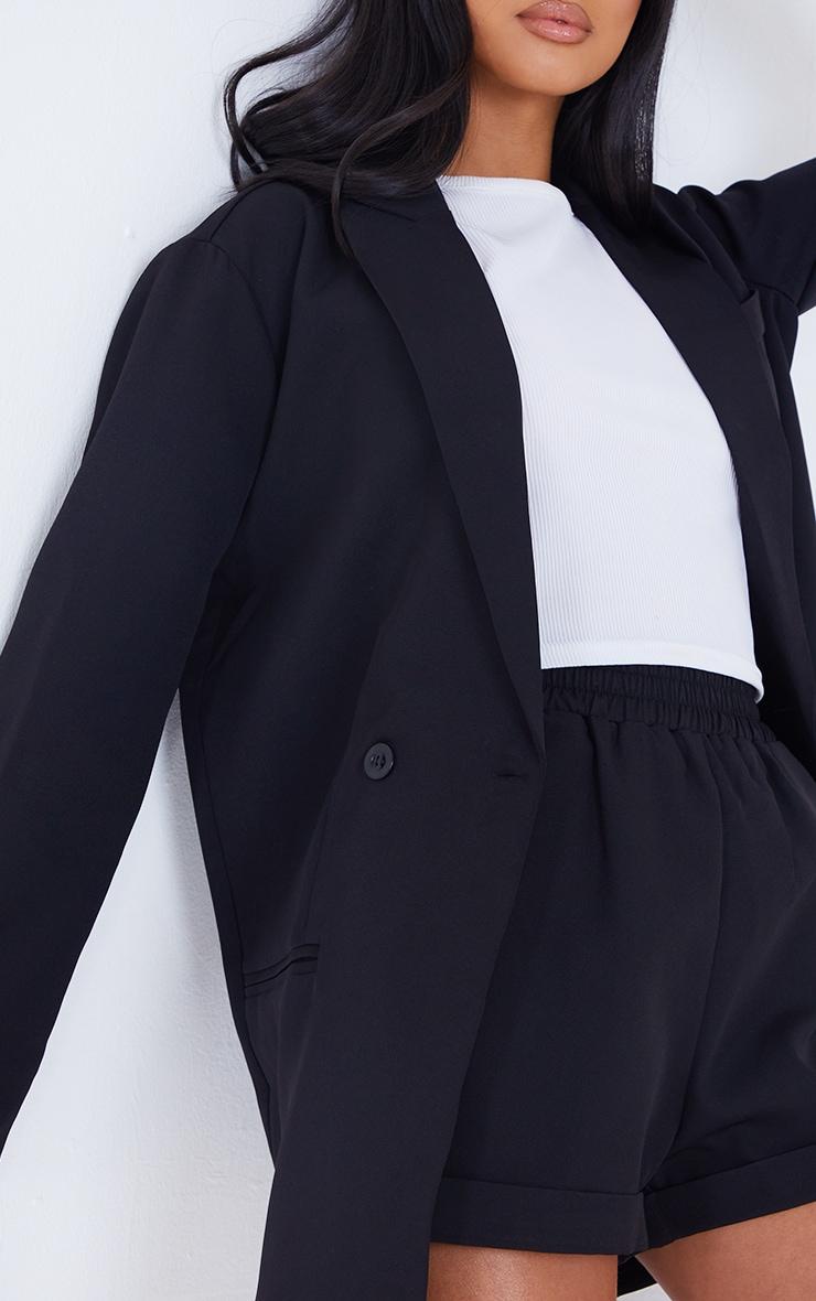 Petite Black Oversized Suit Blazer 4