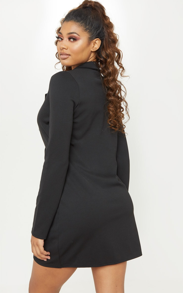 Tall Black Mini Double Breasted Blazer Dress 2