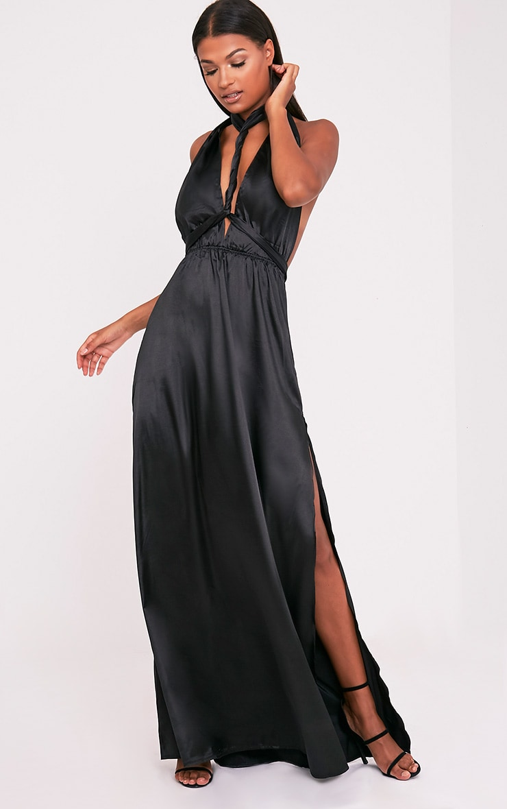 Miranda Black Silky Multiway Maxi 1