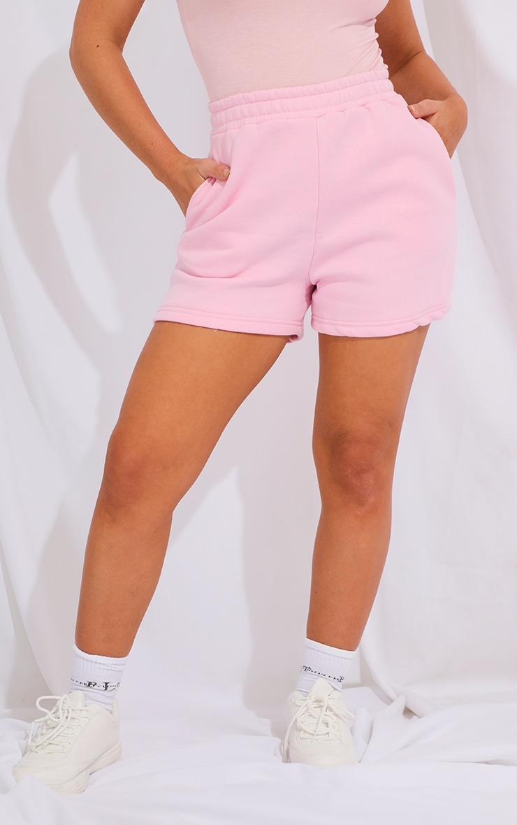 Baby Pink Sweat Pocket Shorts 2