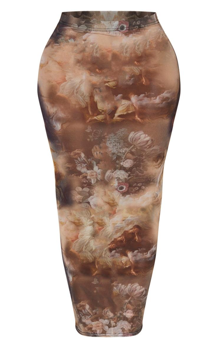 Shape Black Renaissance Mesh Midaxi Skirt 3