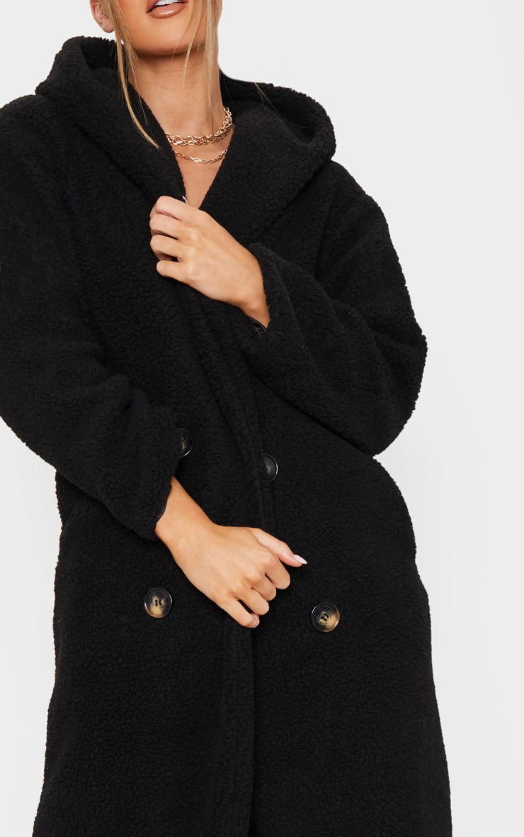 Black Borg Hooded Midi Coat 5