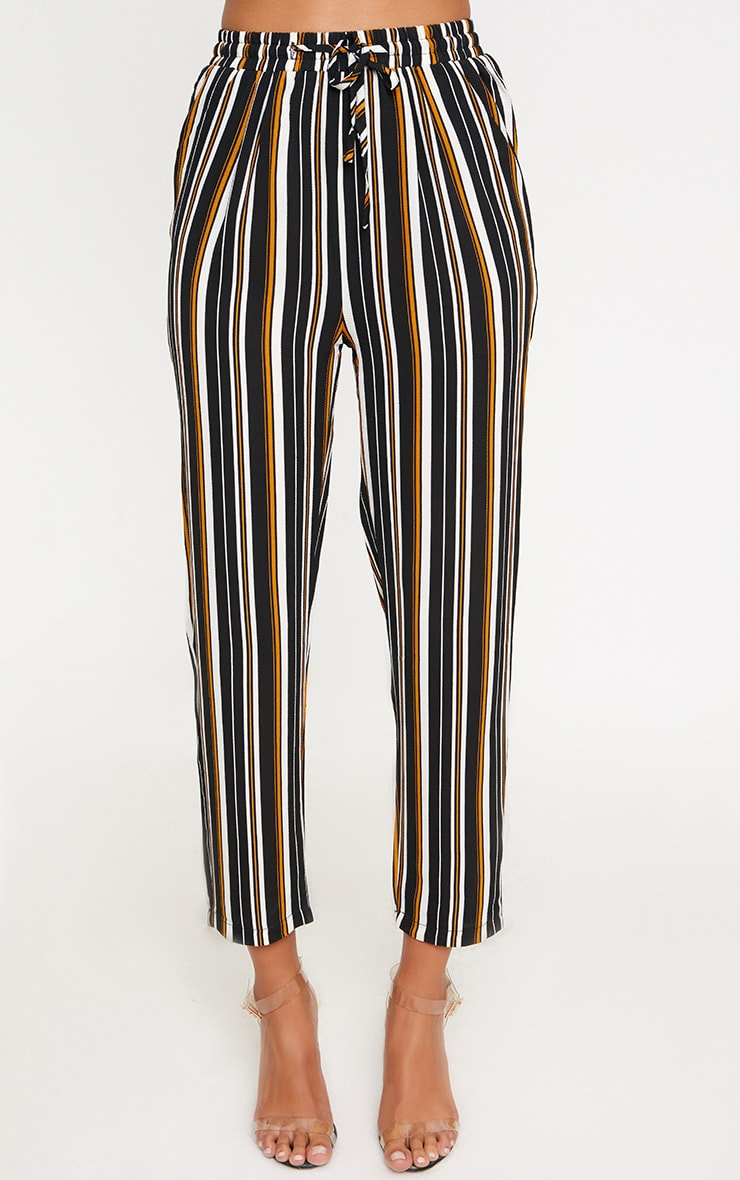Yellow Stripe Casual Trousers 2