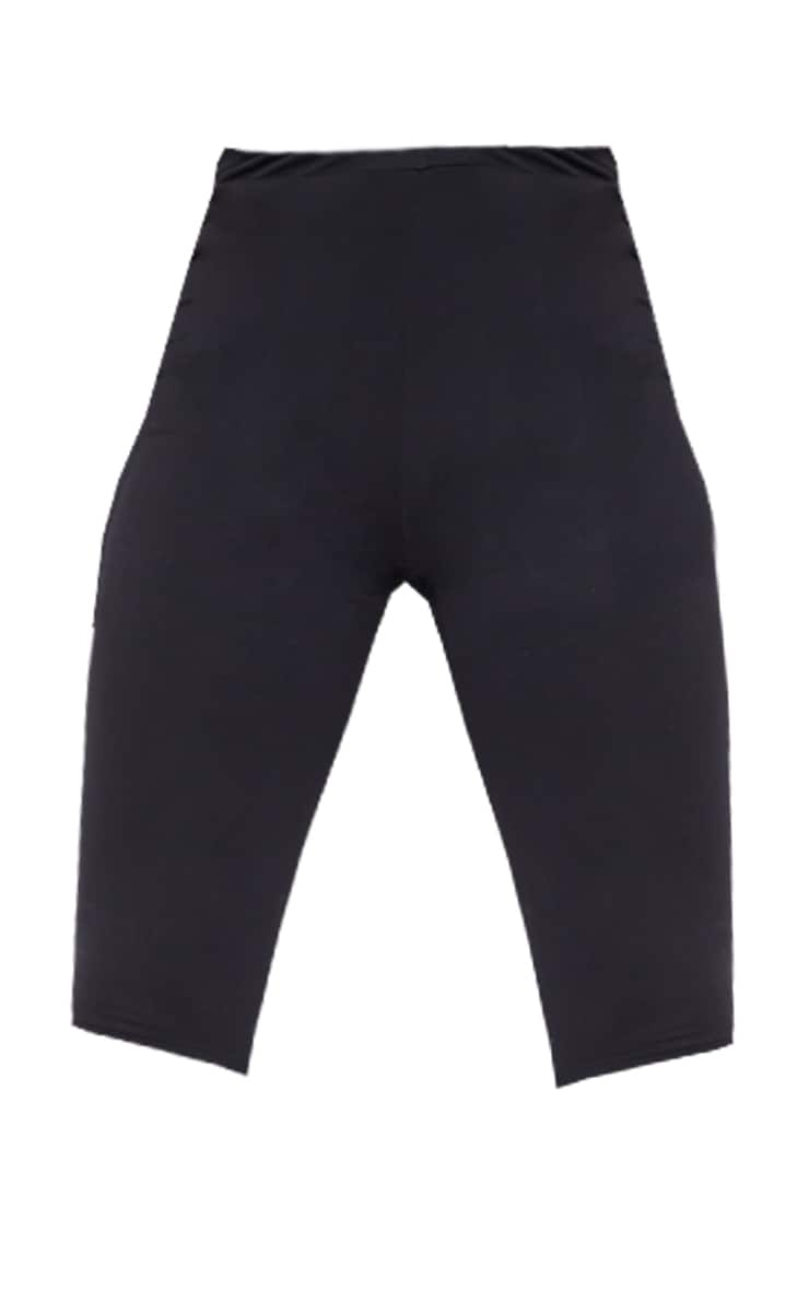 Tall Black Cropped Jersey Leggings 6