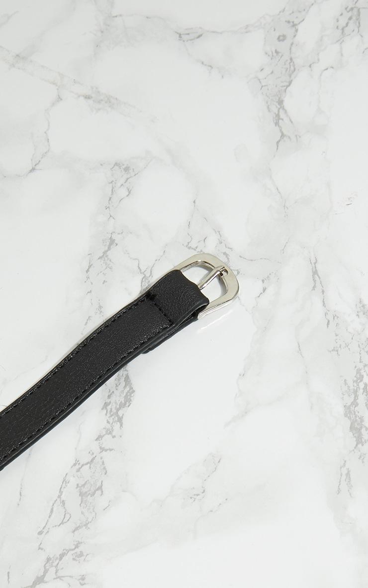 Sac ceinture noir à franges 6