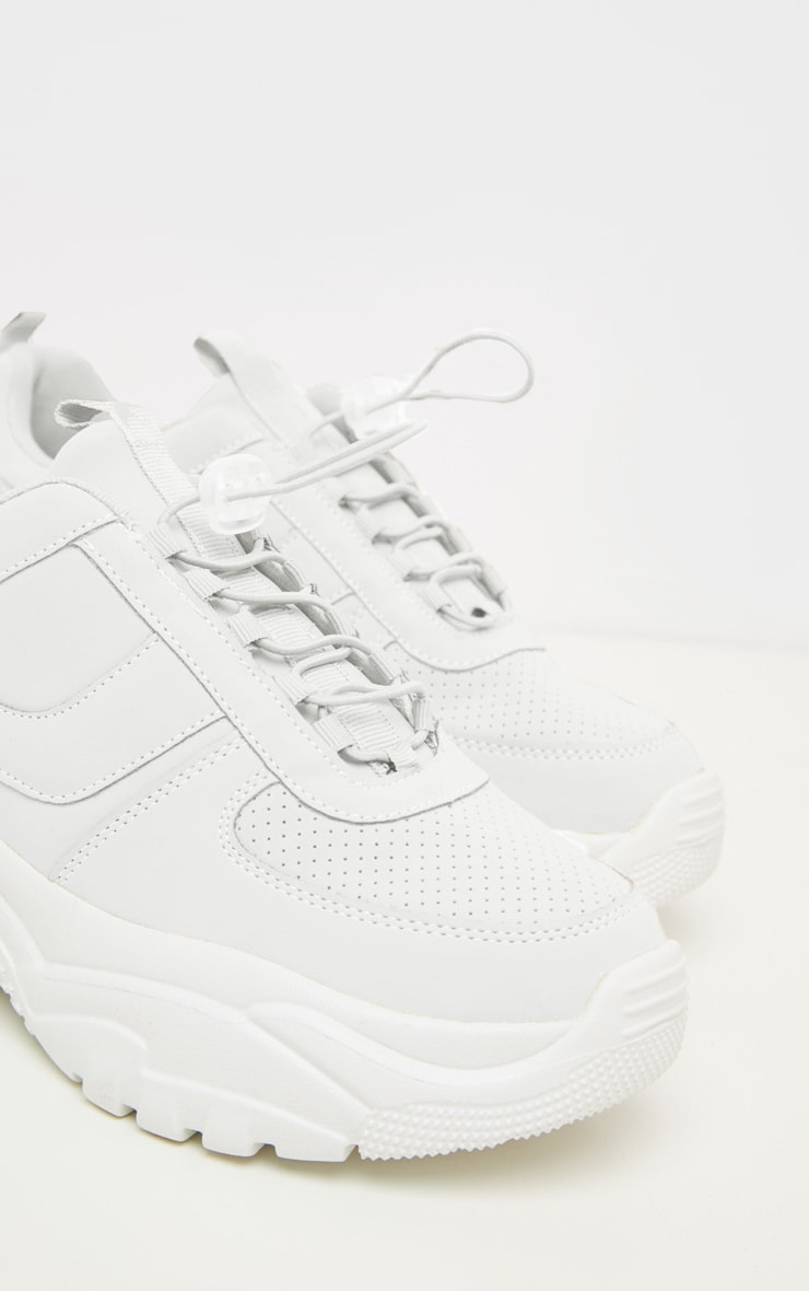 White High Arch Chunky Sole Trainer 4