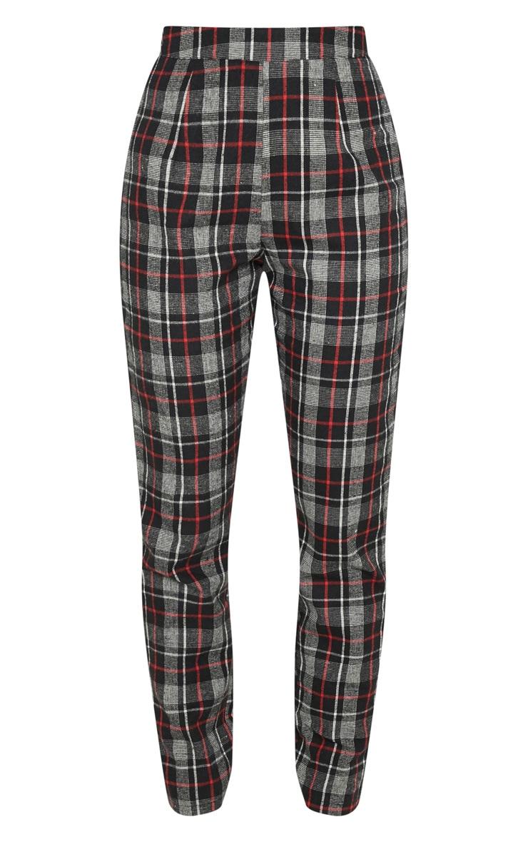 Black Check Woven Suit Pants 3