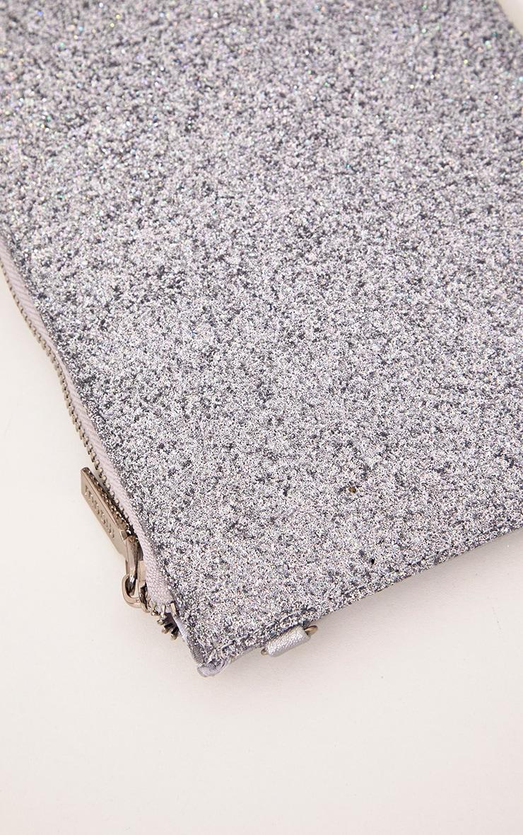 Silver Glitter Clutch 4