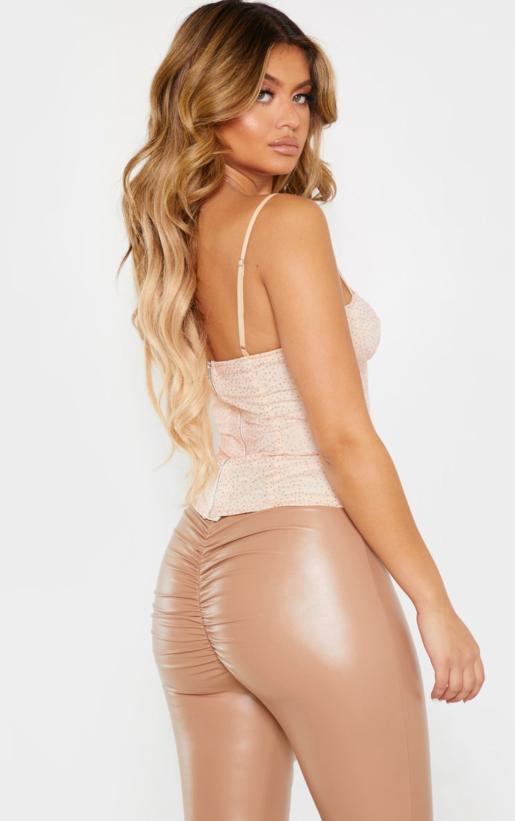 Gold Sparkle Mesh Structured Corset Top 2