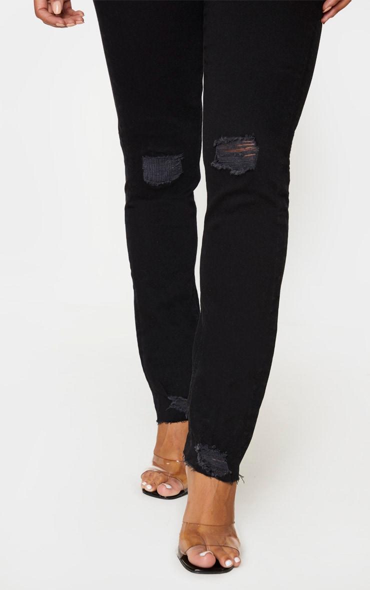 Shape Black Knee Rip Boyfriend Jeans 5