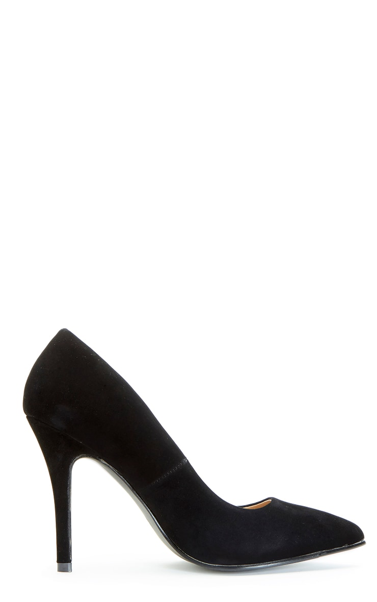 Victoria Black Suedette Stiletto  4