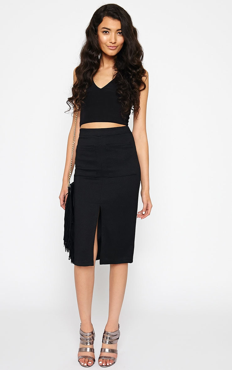 Nala Black Pencil Pocket Skirt 1