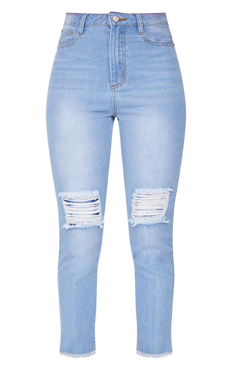 Light Wash Zip Back Jeans 3