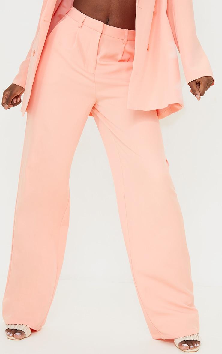 Tall - Pantalon de tailleur corail à taille haute 2