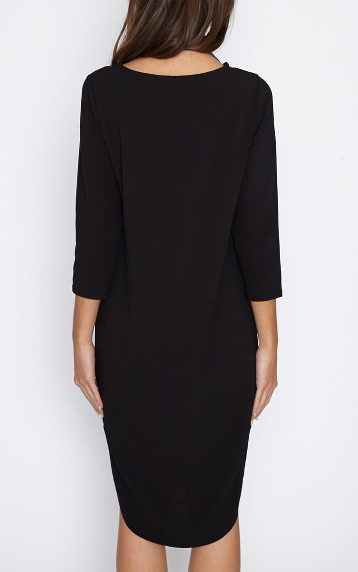 Camilla Black Crepe Shift Dress 2