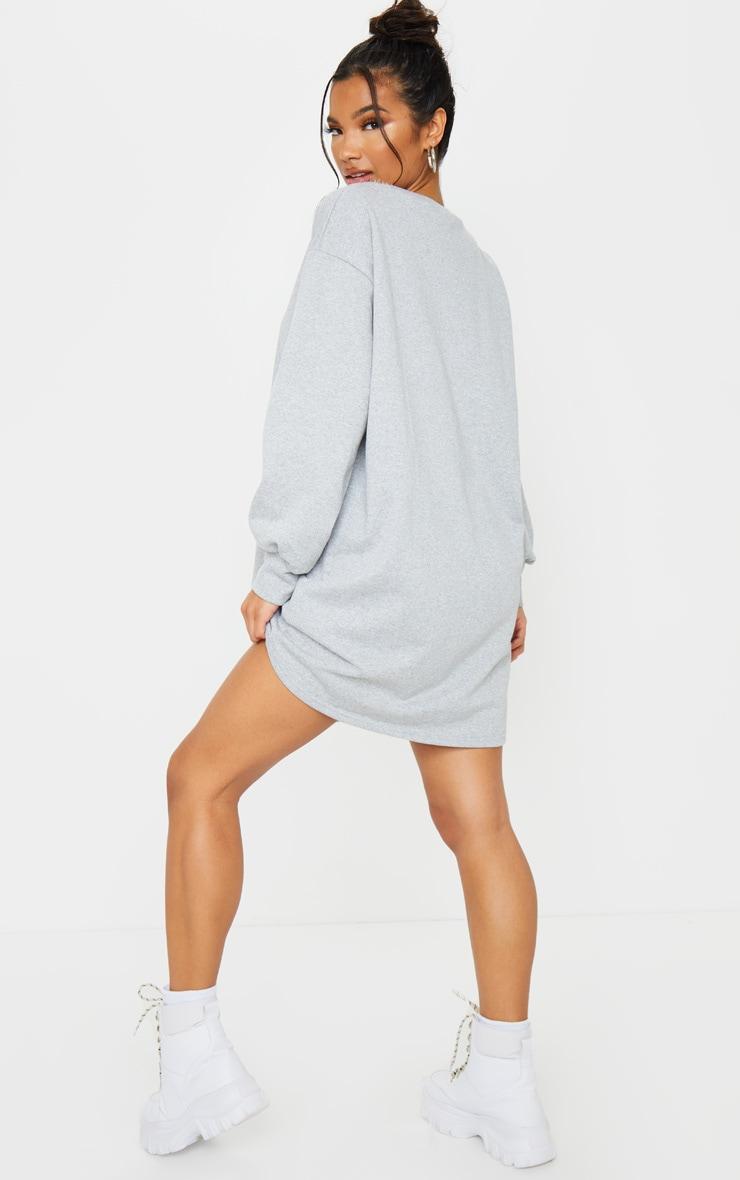 Grey Oversized Sweater Dress 2