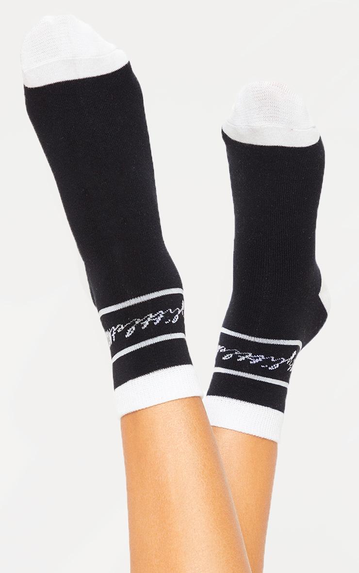 PRETTYLITTLETHING Black Socks 1