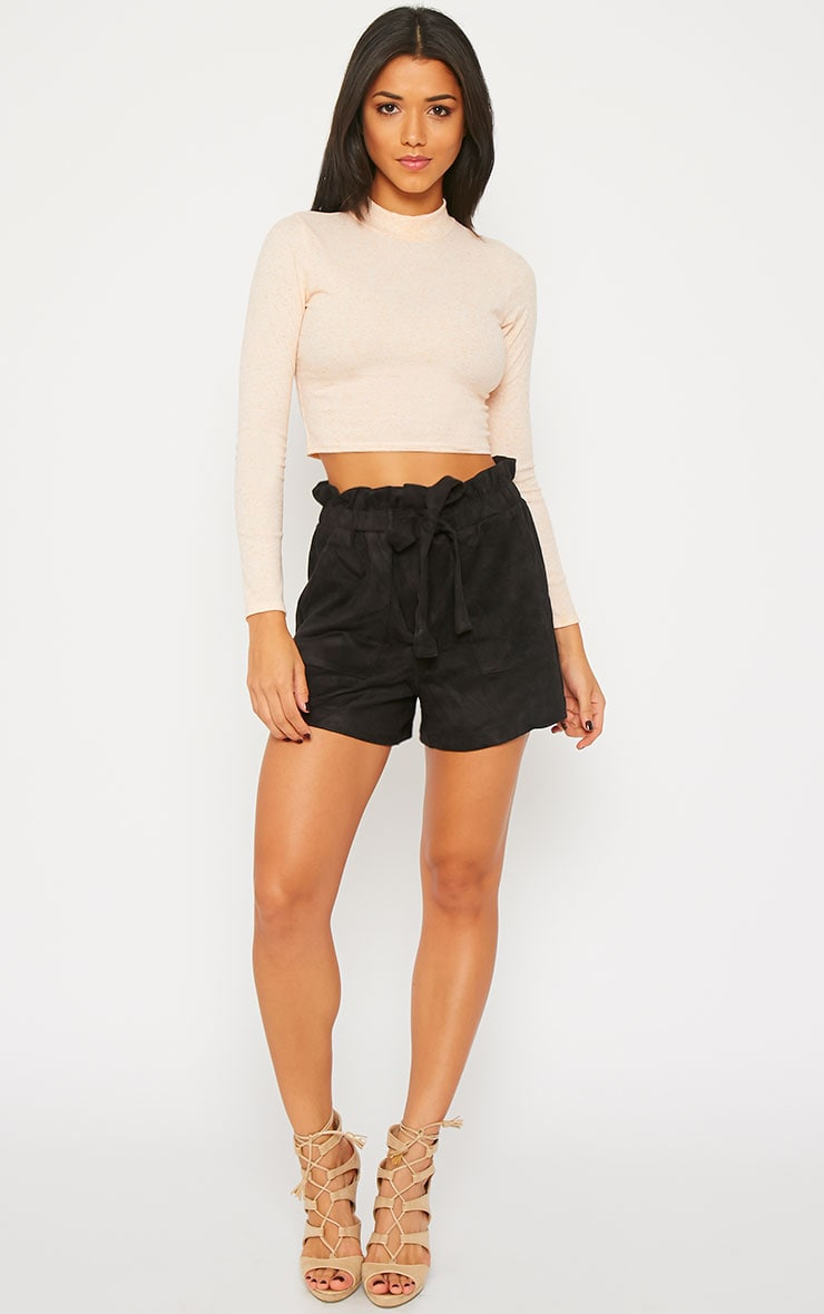 Trudy Black Suede Shorts 1
