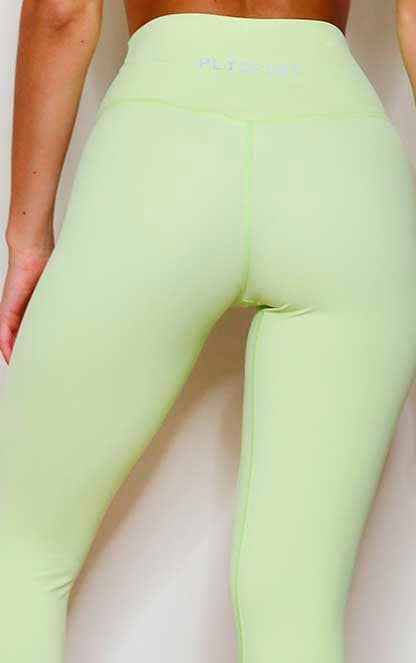 PRETTYLITTLETHING Lime Sports Sculpt Luxe Fabric Cropped Gym Legging 4