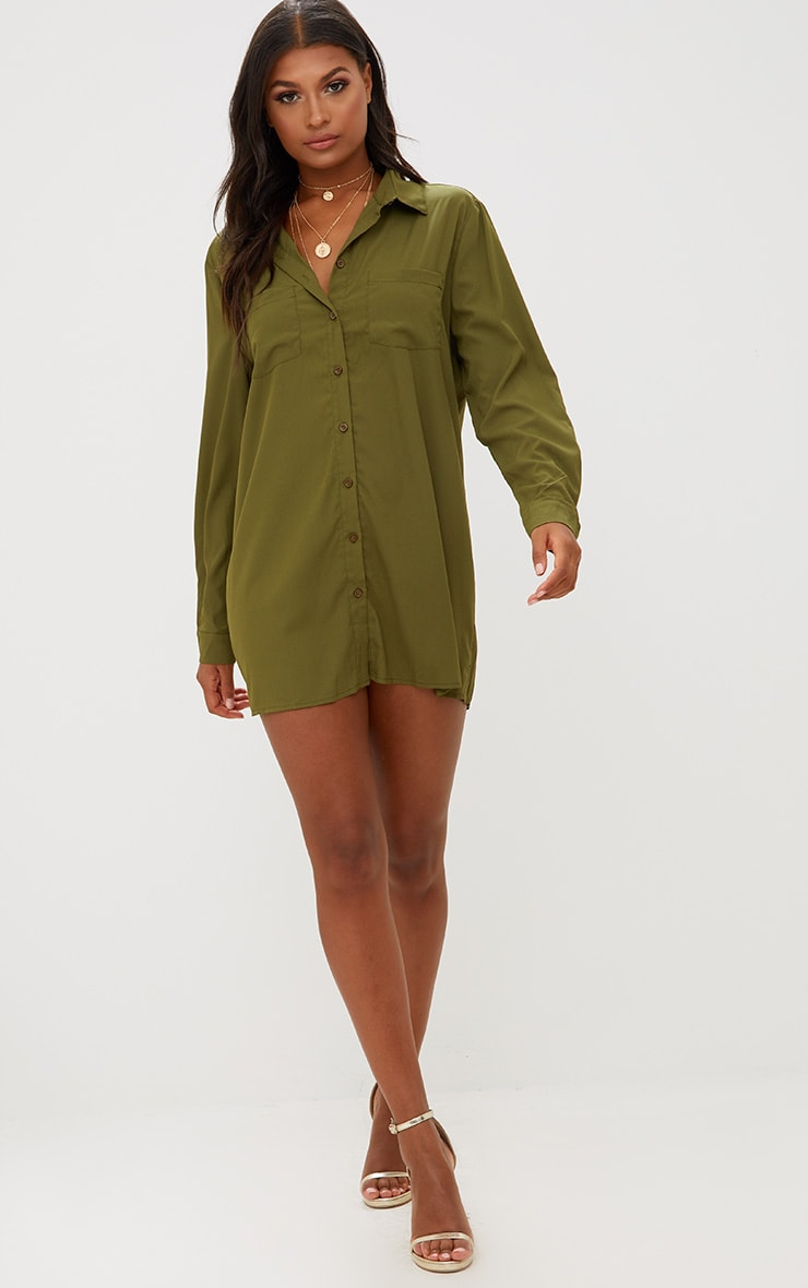 Effy Khaki Shirt Dress 4
